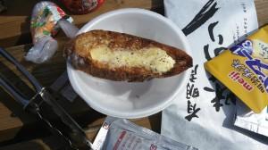フランスパンガーリックトースト